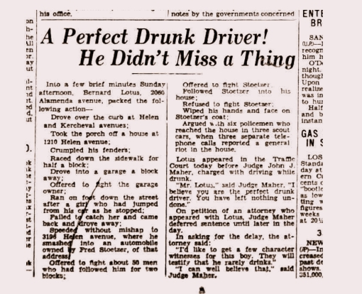 Perfect Drunk March 16, 1931