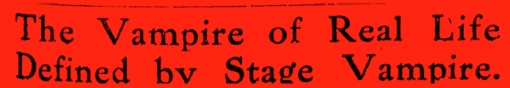 stage vampireA